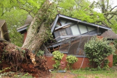 Storm Damage, Tree Over House